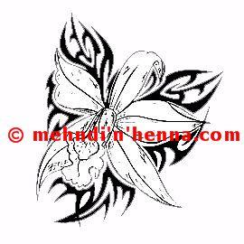 Floral Vine Henna Tattoo