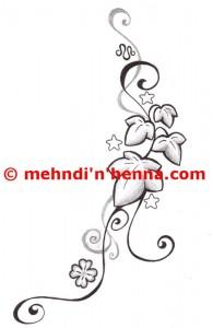 Leaves Henna Tattoo