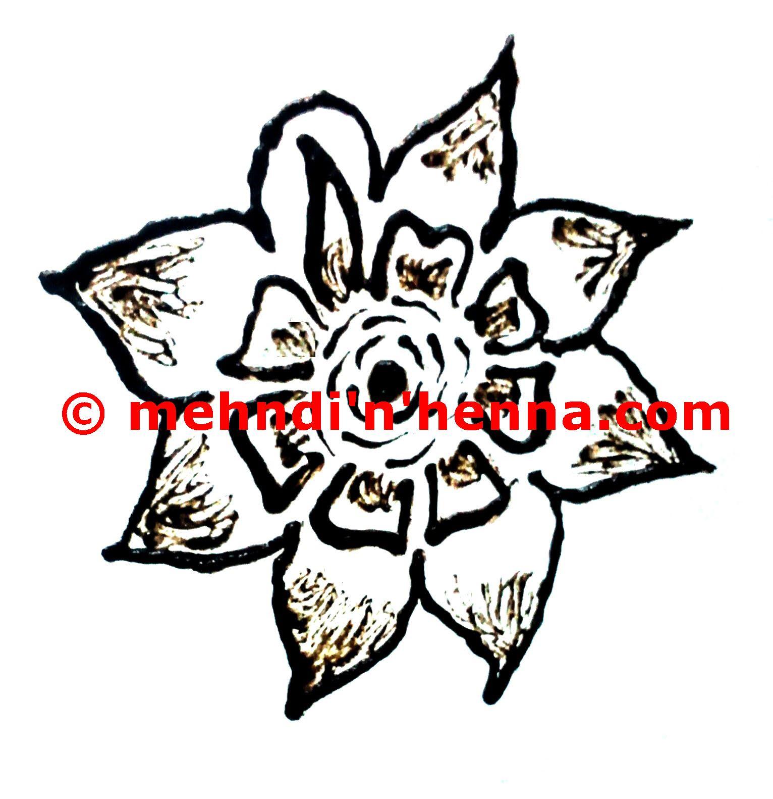 Flower Henna Tattoo Mehndi N Henna Tattoo Designs And Patterns