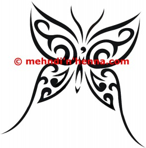 Butterfly Henna Tattoo