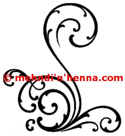 Pug Tails Henna Tattoo