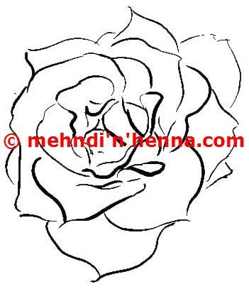 Rose Henna Tattoo