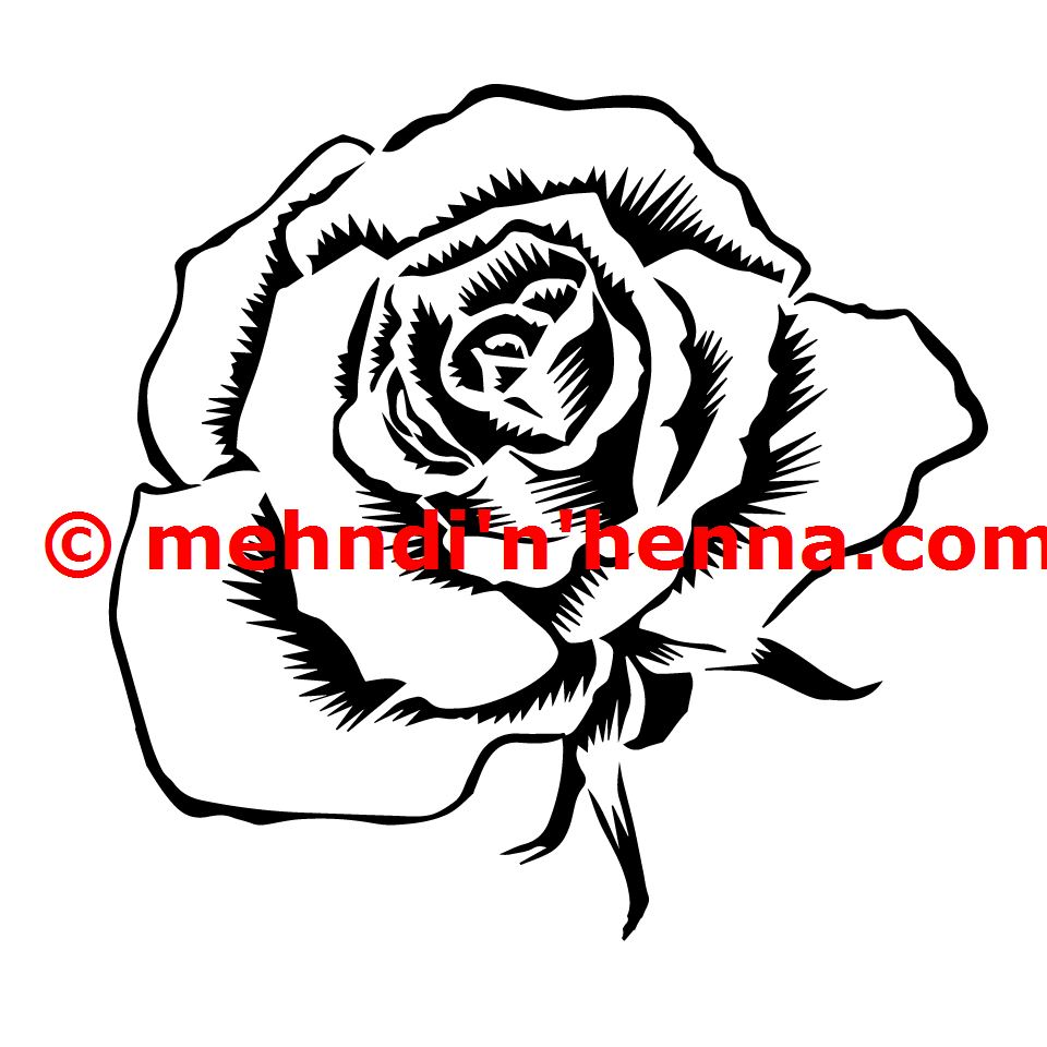 Rose Henna Tattoo