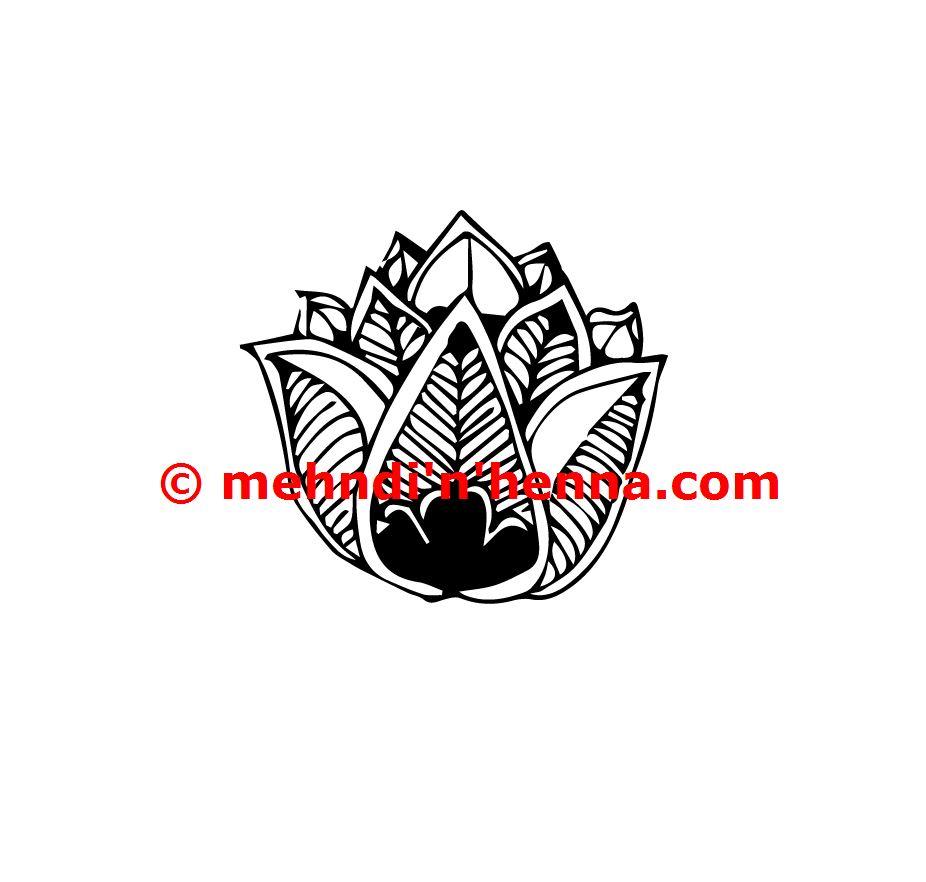 Opening Bud Or Flower Henna Tattoo