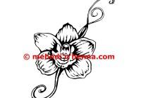 Orchid Henna Tattoo