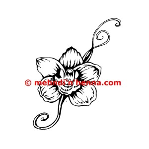 Orchid Henna Tattoo