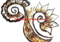 Floral Pug Tail Henna Tattoo