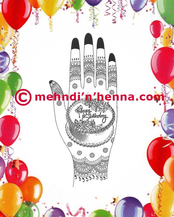 Birthday Henna design